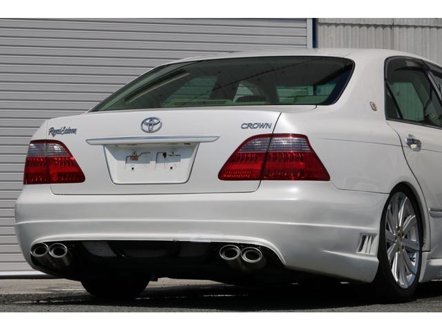 ロイヤルサルーン スピンドルエアロ RS-R車高調 社外アルミホイール HIDヘッドライト ETC レザー調シートカバー CD スマートキー パワーシート エアバック ABS 電動格納ミラー(26枚目)