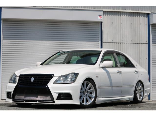 ロイヤルサルーン スピンドルエアロ RS-R車高調 社外アルミホイール HIDヘッドライト ETC レザー調シートカバー CD スマートキー パワーシート エアバック ABS 電動格納ミラー(80枚目)