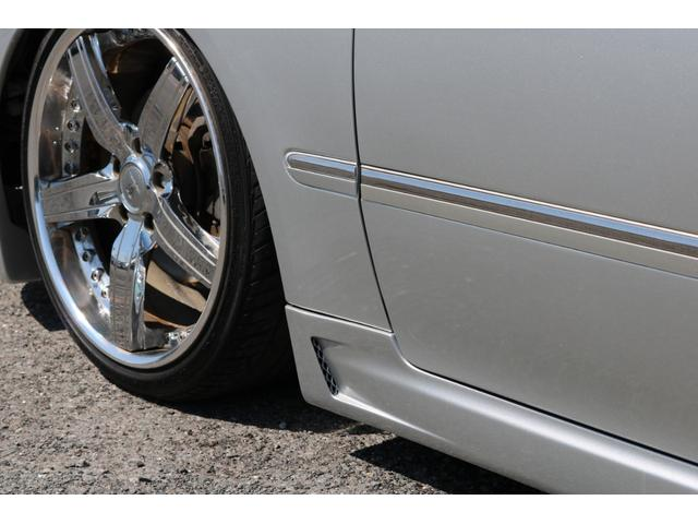 ロイヤルサルーンG モードパルファムエアロ 車高調 19インチアルミホイール ナビ バックカメラ ETC レザー調シートカバー パワーシート スマートキー オートマ パワステ パワーウィンドウ ABS エアバック(11枚目)