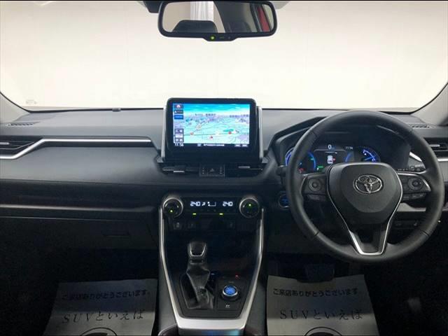HYBRID G 4WD フローティングナビ フルセグTV トヨタセーフティーセンス レーダークルーズコントロール  レザーシート サンルーフ シートヒーター LEDヘッドライト 18インチAW 1オーナー(5枚目)