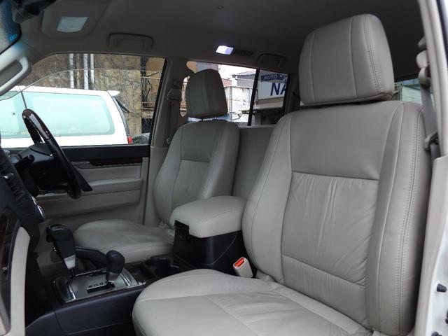 三菱 パジェロ ロング スーパーエクシード 革シート ロックフォード