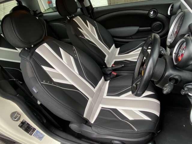 クーパー 6速 REMUSマフラー OZ17インチアルミ BILSTEINサスペンション ローダウン クーパーS用メッシュタイプグリル装着 ユニオンジャックチェッカー・ブラックサイドデカール(12枚目)