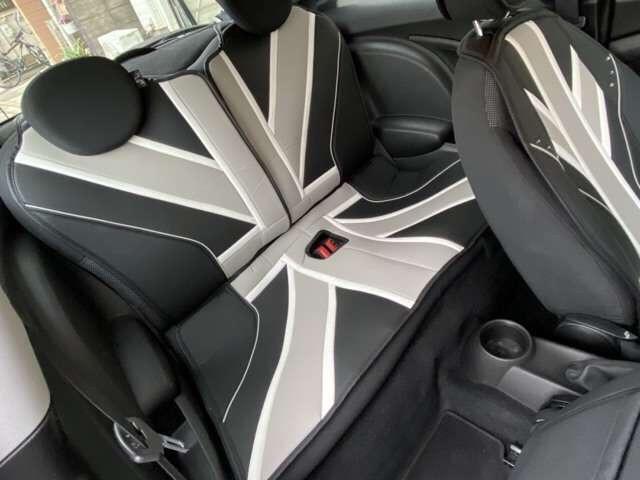 クーパー 6速 REMUSマフラー OZ17インチアルミ BILSTEINサスペンション ローダウン クーパーS用メッシュタイプグリル装着 ユニオンジャックチェッカー・ブラックサイドデカール(15枚目)