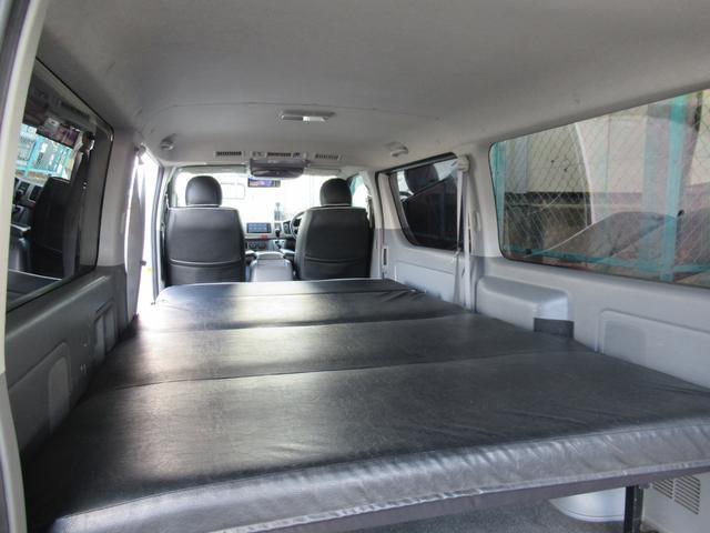 ロングスーパーGL 車中泊 キャンプ 釣り リクライニング機能付きベッドキット オプションリアシートベルト ナビ ETC 社外15インチAW(19枚目)