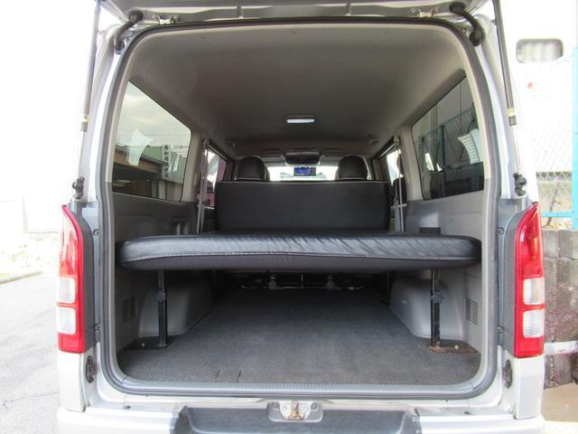 ロングスーパーGL 車中泊 キャンプ 釣り リクライニング機能付きベッドキット オプションリアシートベルト ナビ ETC 社外15インチAW(20枚目)
