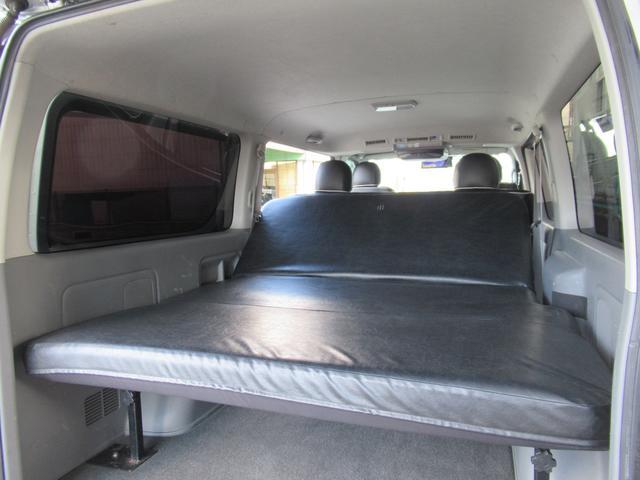 ロングスーパーGL 車中泊 キャンプ 釣り リクライニング機能付きベッドキット オプションリアシートベルト ナビ ETC 社外15インチAW(21枚目)