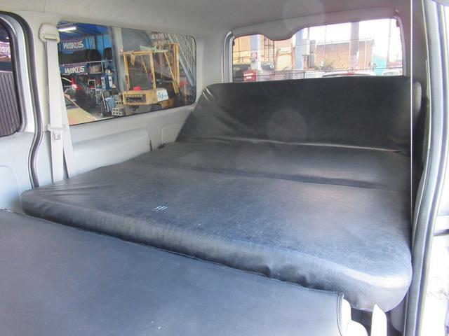 ロングスーパーGL 車中泊 キャンプ 釣り リクライニング機能付きベッドキット オプションリアシートベルト ナビ ETC 社外15インチAW(22枚目)