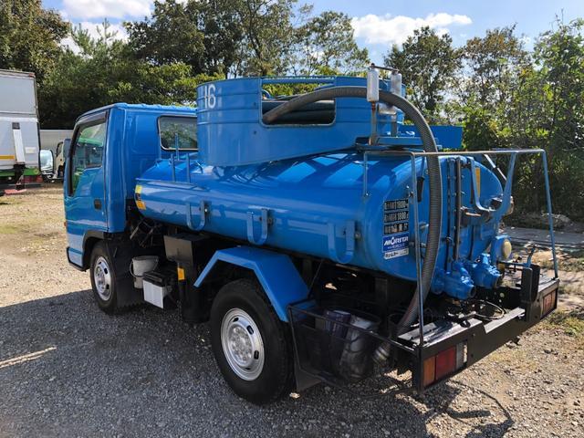いすゞ エルフトラック 1800L モリタエコノス製バキュームカー