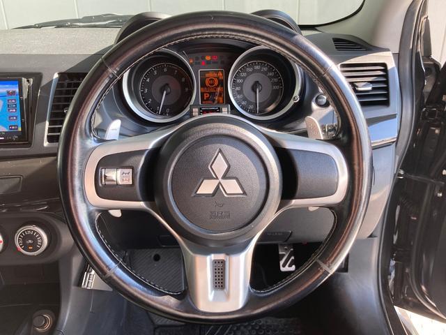 GSRエボリューションX ・4WD・車高調ローダウン・SSR18インチAW・ブレンボキャリパー・2本出しマフラー・ケンウッドナビ・バックカメラ・Bluetooth接続・パドルシフト・黒ハーフレザー・スマートキー・HID(53枚目)