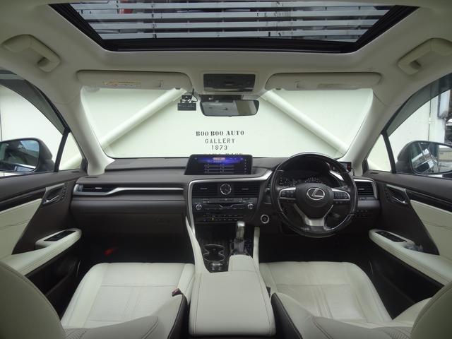 RX450h バージョンL セーフティシステムプラス リアシートエンターテイメントシステム サンルーフ レザーシート 角型3眼LEDヘッドランプ SDナビ プレミアムサウンドシステム パノラミックビューモニター シートヒーター(3枚目)