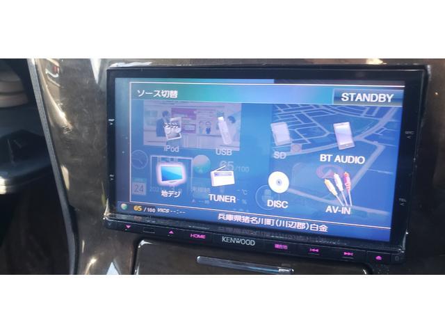 Aタイプ ワンオフワイドフェンダー SSKIT WORKグノーシス20インチ KENWOOD彩速ナビ Bluetooth対応 フルセグ(8枚目)