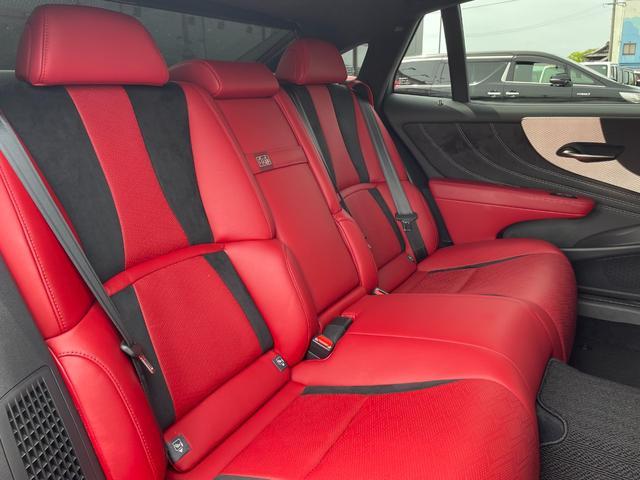 LS500h Fスポーツ TRDエアロ・サンルーフ・本革赤シート・パノラミックビューモニター・ETC2.0・100V電源・シーケンシャル・12.3型ナビ・衝突被害軽減・BSM・カラーHUD・AHS・レーダークルーズコントロール(42枚目)