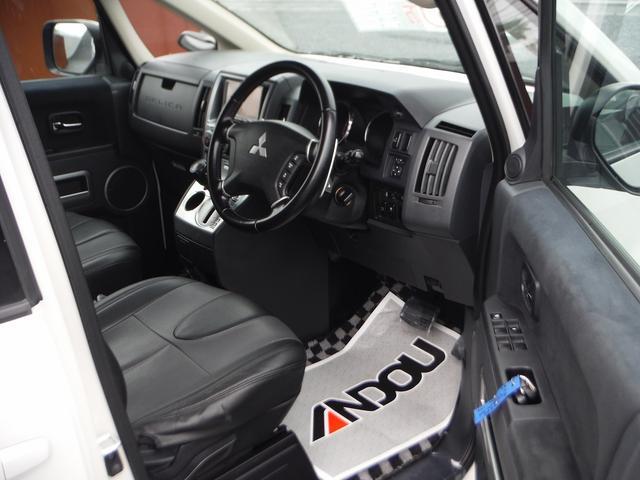三菱 デリカD:5 ローデスト GパワーP HDDナビ地デジ 左側自動ドア