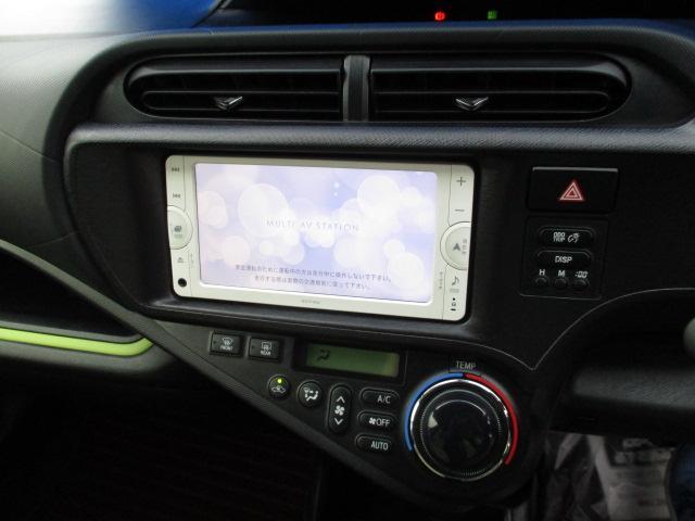 トヨタ アクア S メモリーナビ ウィンカーミラー キーレス ハイブリッド