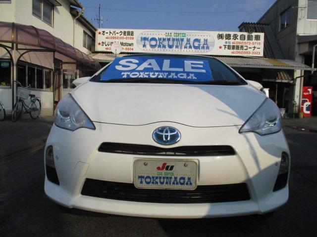トヨタ アクア S キーレス CD エアバック ABS ウィンカーミラー