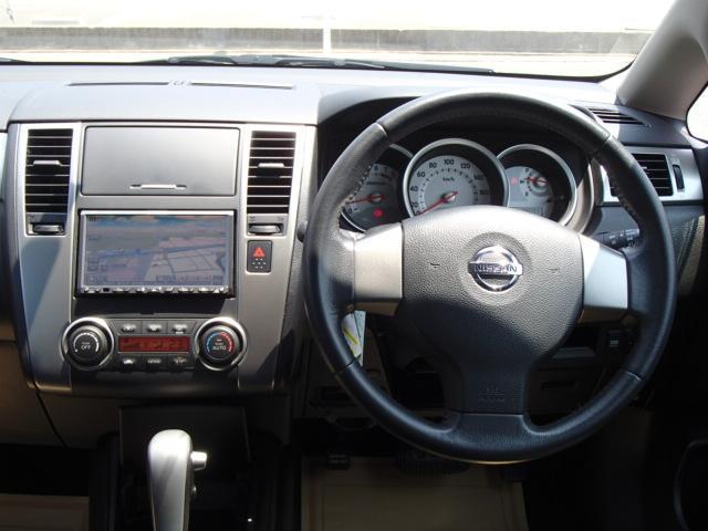 日産 ティーダ 15M ワンオーナー 社外HDDナビ フルセグ ETC