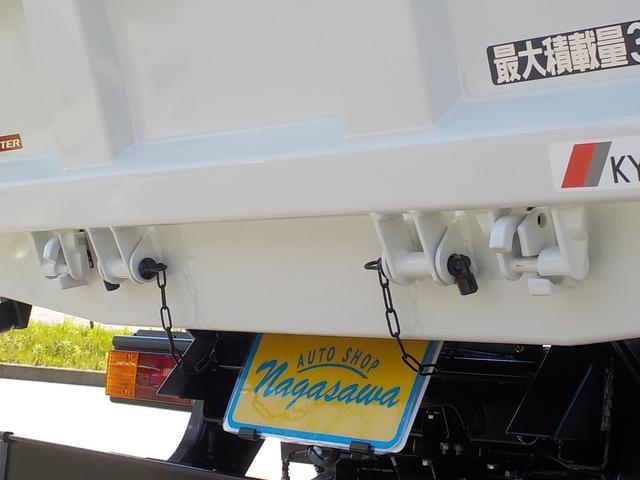 3t高床強化ダンプ 衝突被害軽減ブレーキ 車線逸脱警報装置 車輌安定性制御装置 キーレス 左電格ミラー コボレーン 中間ピン 枕木 角出し フォグランプ Bluetooth内蔵型ラジオ 登録済未使用(16枚目)