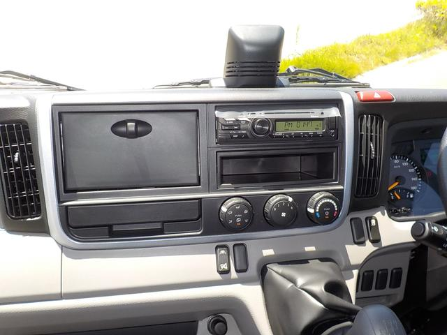 3t高床強化ダンプ 衝突被害軽減ブレーキ 車線逸脱警報装置 車輌安定性制御装置 キーレス 左電格ミラー コボレーン 中間ピン 枕木 角出し フォグランプ Bluetooth内蔵型ラジオ 登録済未使用(23枚目)
