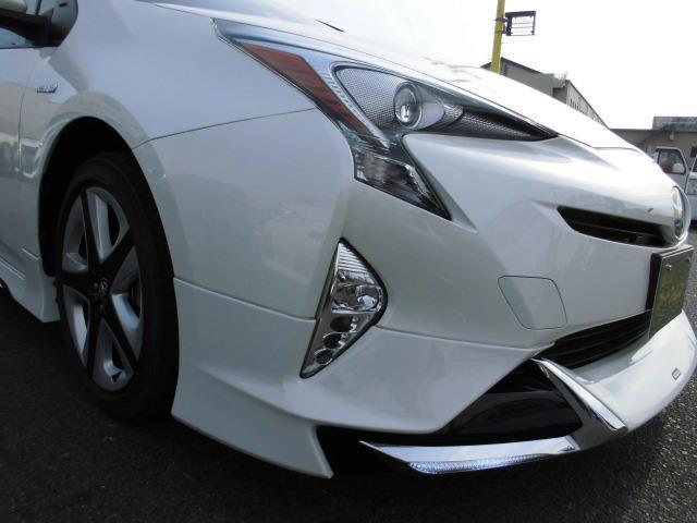 トヨタ プリウス Sツーリングモデリスタエアロ9型地デジナビ黒革シートETC