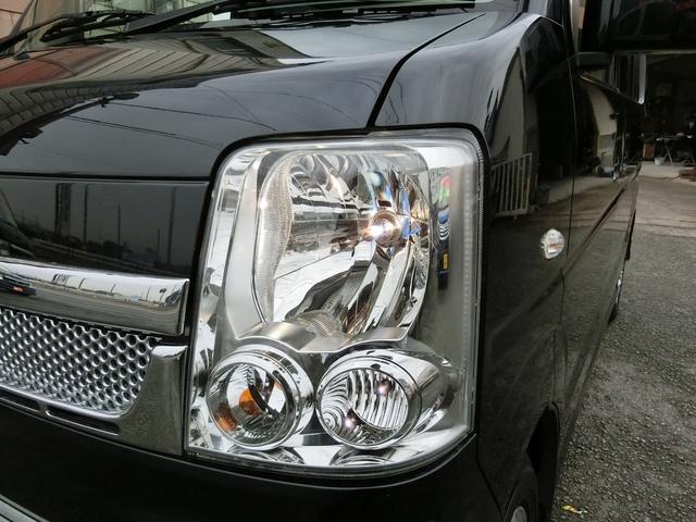 スズキ エブリイワゴン PZターボ 電動スライド 黒革調シートカバー 社外マフラー