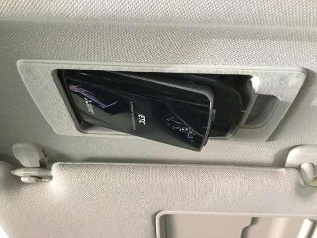 ETCは運転席サンバイザー裏にらに装着されてます。