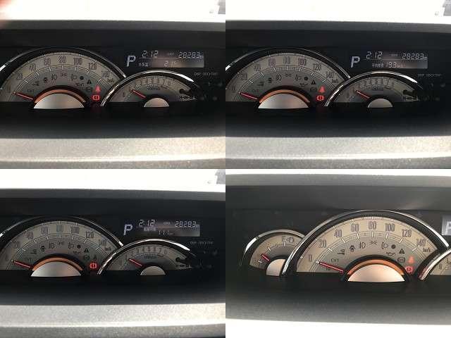 走行可能距離や燃費計の機能を備えたスピードメーターは見やすいセンターメーターです。