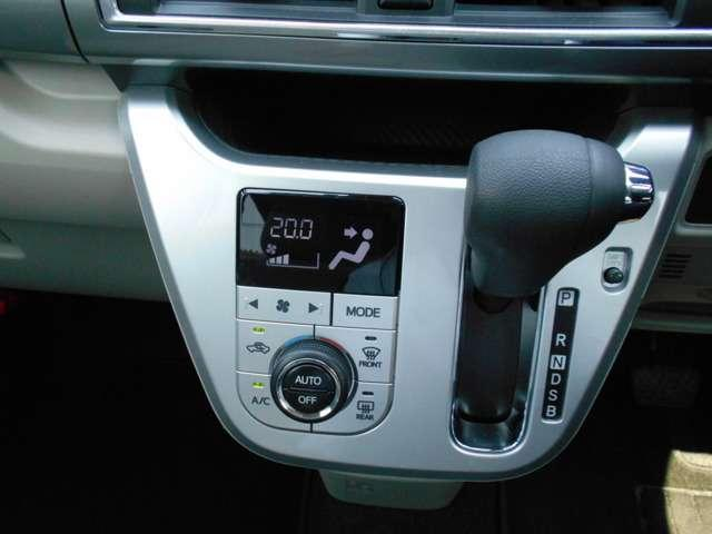 オートマシフトです☆滑らかな走りのCVT☆オートエアコンなので温度だけあわせていれば、室内は快適温度に!