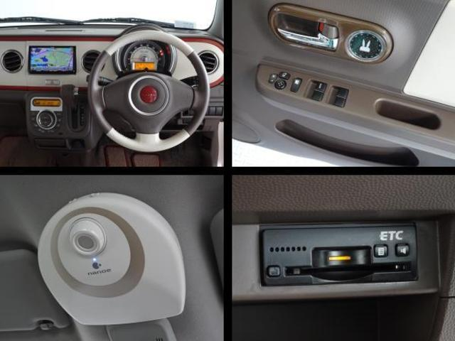 運転席周りの写真です。高速道路で便利なETCを装備してます。パワーウインドウ・ナノイー機能を装備してます。