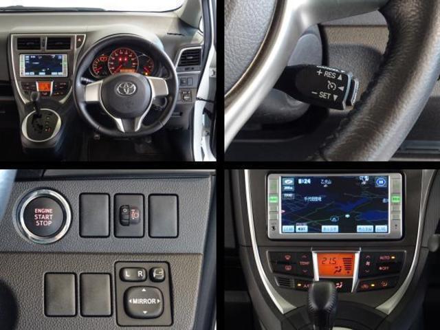 運転席周りの写真です。クルーズコントロール・スマートキー・オートエアコンを装備してます。