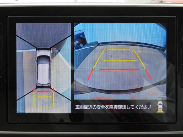 パノラマモニターは全体を上から見られるので、バックや駐車が苦手な方の強い見方♪