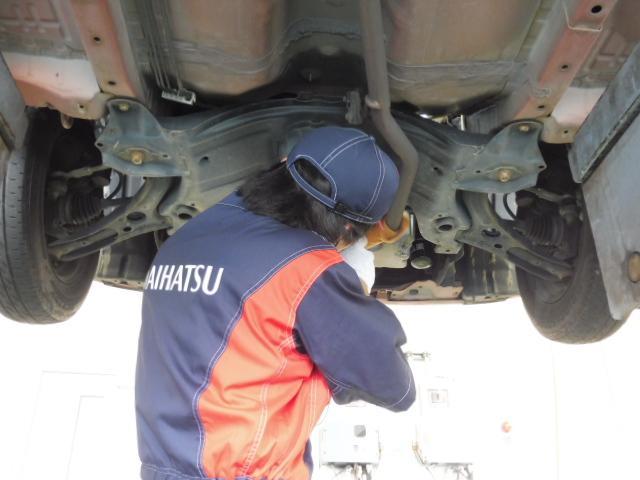 安心してお乗り頂ける様、整備スタッフが納車前に心を込めて整備しています。
