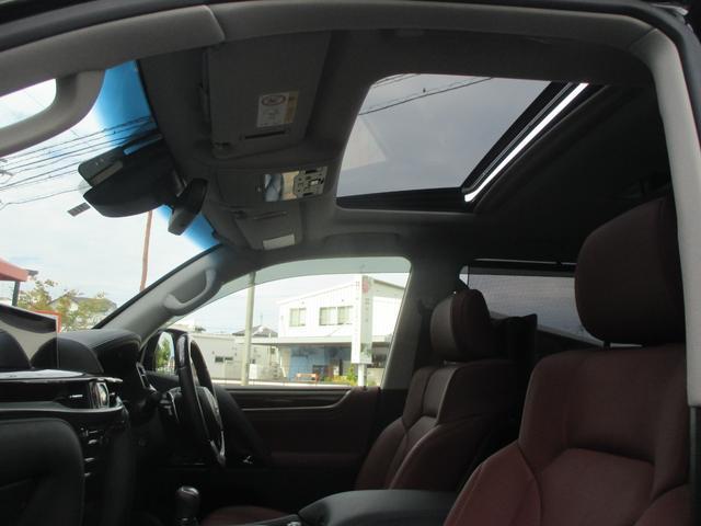 LX570 リヤシートエンターテインメント オプション21AW ドライブレコーダー ガーネットセミアニリンレザー ムーンルーフ 寒冷地仕様 パワーバックドア クールボックス 三眼LEDライト パノラミックビュー(45枚目)