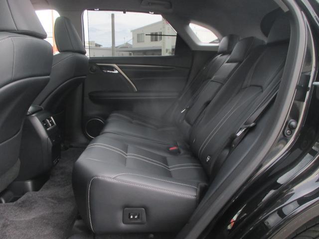 RX450h バージョンL パノラマルーフ ルーフレール おくだけ充電 セミアニリンブラックレザーシート パノラミックビュー ブラインドスポットモニター 三眼フルLEDライト ヘッドアップディスプレイ 後席パワーシート(33枚目)
