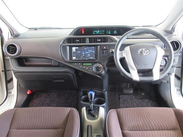 トヨタ アクア G 1年保証 メモリーナビ フルセグTV ETC