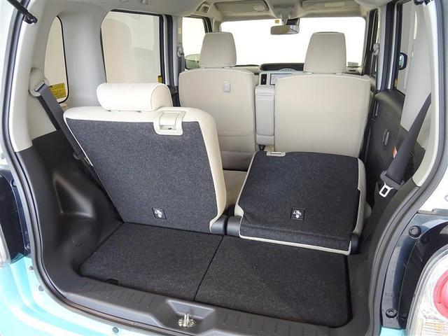 シートは独立可倒、色々な大きさの荷物が積載可能です。