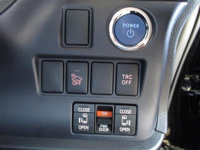 ボタンスタートスイッチと電動格納ミラースイッチ。オートマチックハイビームスイッチ