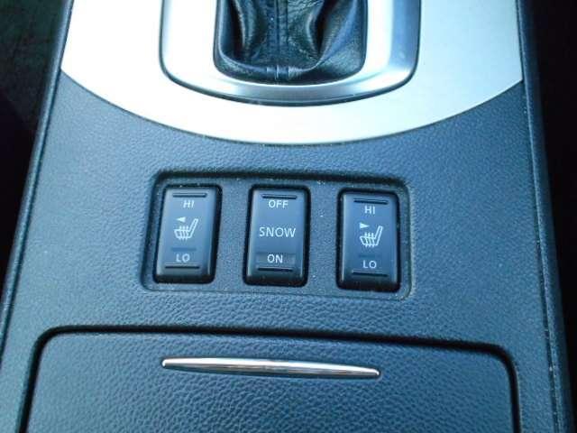 前席クイックコンフォートシートヒーター装備☆からだが触れる部分を直接あたためて体感温度を上げられて体の芯からポッカポカ♪エアコンよりも効き始めが早いので寒い冬はとっても嬉しい装備ですね!