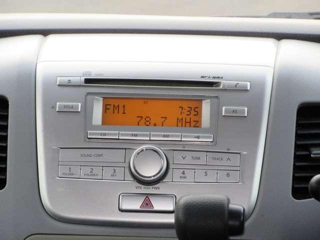 純正オーディオを装着!FM,AMラジオやCDでドライブをより盛り上げてくれます!