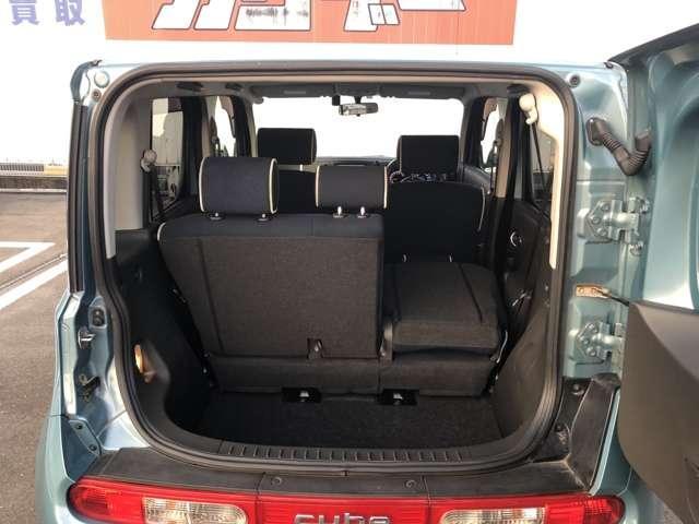 ラゲッジルーム 後部座席を倒す大きな荷物も載せることが可能です