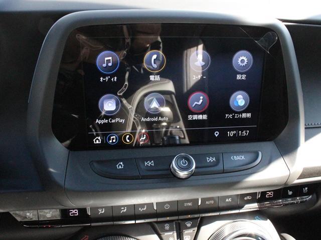 お手持ちのスマートフォンを車につなぐとアップルカープレイやアンドロイドオートが起動。電話、メッセージ送受信、ミュージック、マップなどの機能を、車載のタッチスクリーンで簡単に操作が可能です。