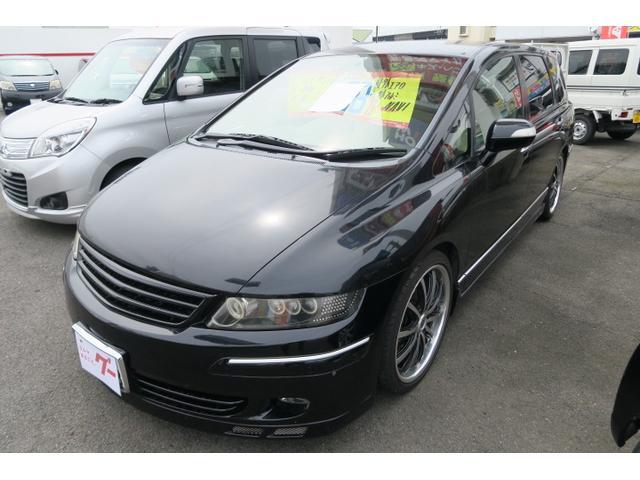 ホンダ オデッセイ M 社外エアロ HDDナビ レザー調シートカバー キーレス