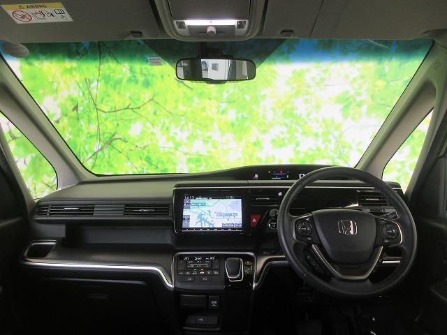 スパーダハイブリッドG・EXホンダセンシング 純正 9インチ メモリーナビ/フリップダウンモニター/両側電動スライドドア/シート ハーフレザー/車線逸脱防止支援システム/ヘッドランプ LED/ETC/EBD付ABS/横滑り防止装置 全周囲カメラ(4枚目)