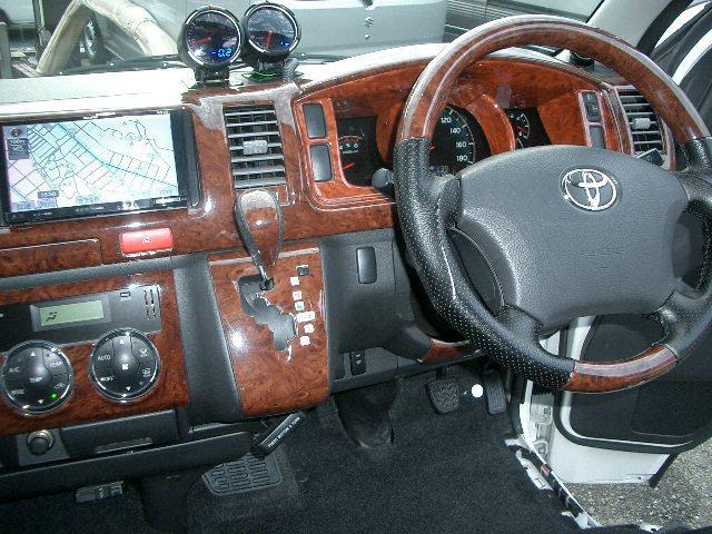 トヨタ ハイエースバン ロングワイドスーパーGL SDナビBカメラETCベッドキット