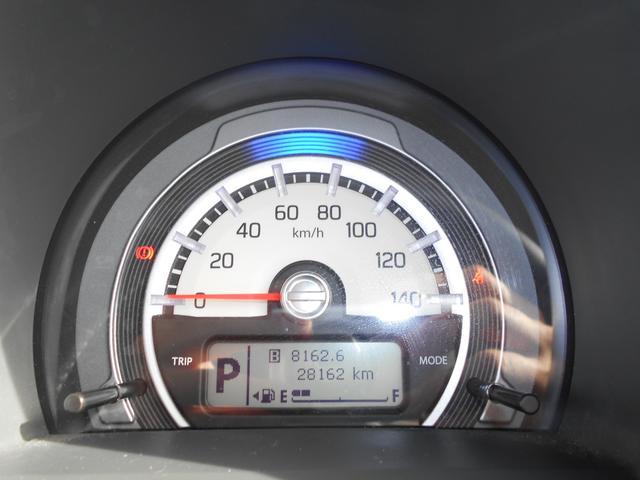 メーターはシンプルなデザインです。走行距離は現在、28,162kmです。