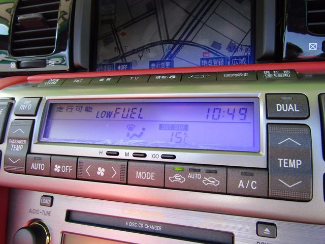 SC430 DVDマルチ マークレビンソン 赤革Pシート(11枚目)