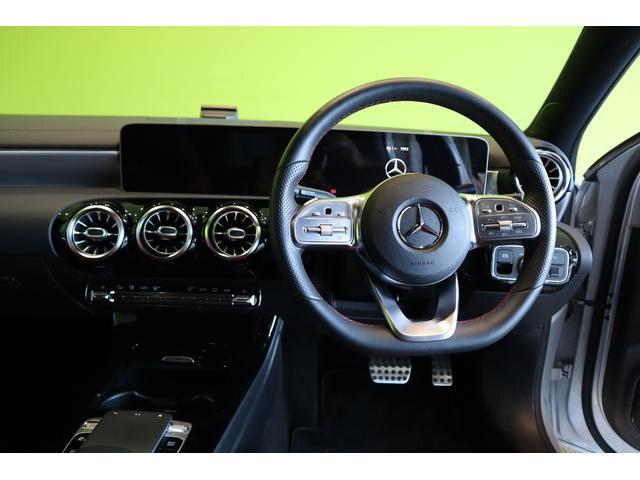 A180スタイルAMGラインナビPGレザーEXCパノラマSR ワンオーナー車・ナビパッケージ&レザーエクスクルーシブPG・パノラマSR・AMG18インチAW・純正ナビ・360度カメラ・ドラレコ・7AT(7枚目)
