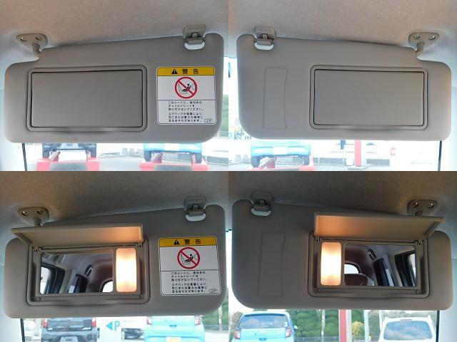 サンバイザーを下げ、ふたを開けると照明が自動的に点灯する照明付バニティミラー(運転席/助手席)装備☆