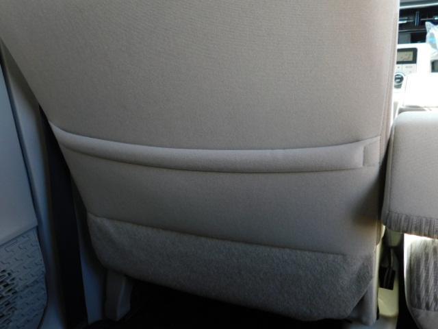 助手席シート後の収納ポケット