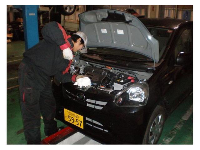 お客様にメンテナンス(車検や整備、修理など)で何度も自社を利用していただけるようにご協力をお願いしています。安価で軽自動車を提供できるのは、お客様のご協力があって始めて実現できます。