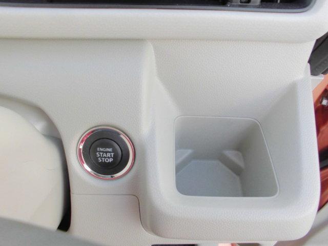 ボタン1つでエンジンを始動【キーレスプッシュスタート】!イモビライザーも標準装備です。